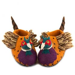 Adult Slippers Freddie the Pheasant | Brown