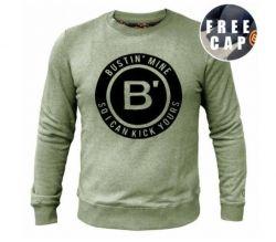 BVLLIN Bustin' Sweater + Free Cap | Khaki / Black