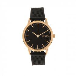 Unisex Watch 5200 | Black & Rosé Gold