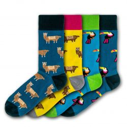 Men Socks Going Wild | Set of 4