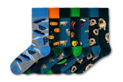 Men Socks Crazy Mix | Set of 7