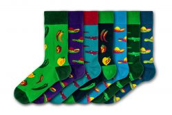 Men Socks Mexican Wilderness | Set of 7