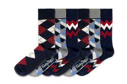 Men Socks FSB146 | Set of 6