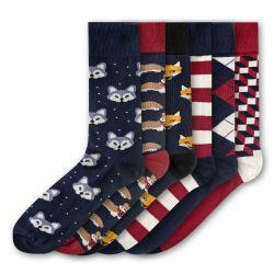 Men Socks FSB283 | Set of 6