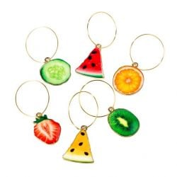 Glasmarkers Tropical Fiesta - Set van 6 | Fruit