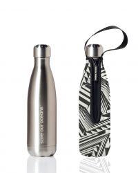 Trinkflasche & Deckel 500 ml | Silber & Azteke