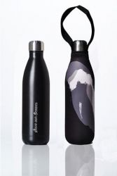 Drinking Bottle Future + Cover 750 ml | Black & Black Wave