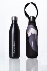 Trinkflasche Zukunft + Deckel 750 ml | Schwarz & Schwarze Welle