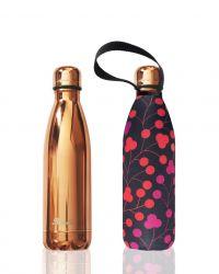 Trinkflasche & Deckel 750 ml Zukunft | Rose Gold & Bondi Walk