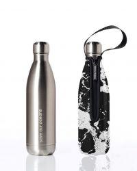 Trinkflasche & Deckel 750 ml Zukunft | Silber & Wildwasser