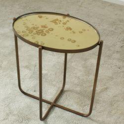 Table d'Appoint Antique avec Miroir