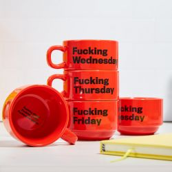 Mugs Fuck | Set of 5 | Red