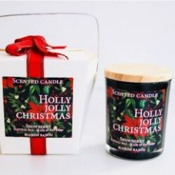 Geurkaars Candle Snowberry | Holly Jolly Christmas