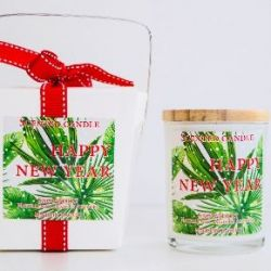 Geurkaars Candle Snowberry | Happy New Year