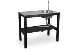 Outdoor Kitchen with Tap & Sink Holma | Black
