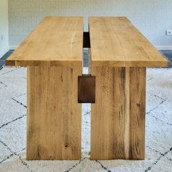 Esstisch geteilt Eiche massiv 2 Teile | Helles Holz