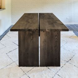 Dining Table Split Massive Oak 2 Parts | Black