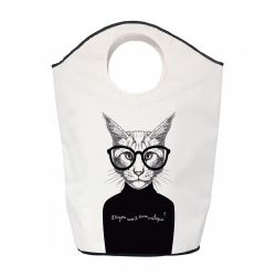 Storage Bag Critique Cat | White