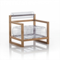 Sessel Yoko Wood | Transparent
