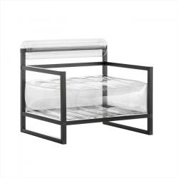 Sessel Yoko Aluminium | Transparent