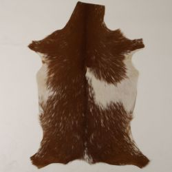 Goatskin Unique | Brown & White