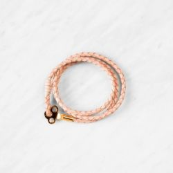 Key Leather Bracelet | Natural