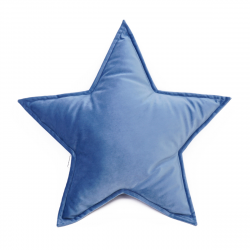 Cushion Big Star Velvet | Blue
