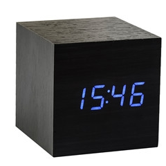 Würfel-Klick-Uhr | Schwarz & Blau