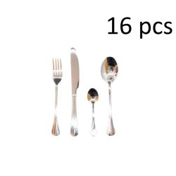 Cutlery Set of 16 Gabor | Silver Mirror