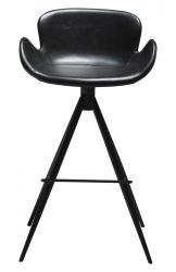 Bar Stool Gaia Vintage Artificial Leather | Black