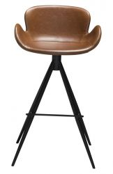 Bar Stool Gaia Vintage Artificial Leather | Light Brown