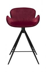 Tabouret de Bar Gaia 2 | Velours Rouge