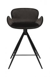 Counter Stool Gaia Velvet | Black