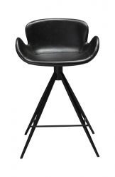 Counter Stool Gaia Vintage Artificial Leather | Black