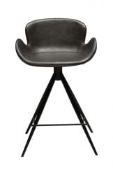 Counter Stool Gaia Vintage Artificial Leather | Grey