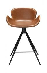 Counter Stool Gaia Vintage Artificial Leather | Light Brown