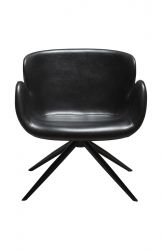 Lounge Chair Gaia | Art. Leather / Vintage Black