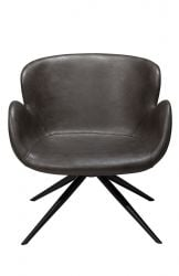 Lounge Chair Gaia | Art. Leather / Vintage Grey