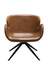 Lounge Chair Gaia | Art. Leather / Vintage Light Brown