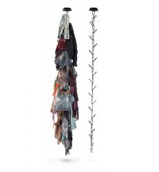 Gang Ceiling-mounted clothes-hanger black
