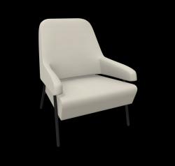 Armchair Gap Metal Legs / Low Back | Beige