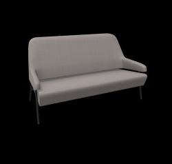 Sofa Gap Metallfüße / Niedrige Rückenlehne | Grau