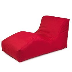 Garden Lounger Wave Plus | Red