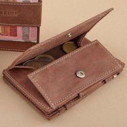 Geldbörse für Munzen RFID Essenziale | Braun