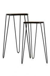 Tabouret Gatsby Set of 2 | Black