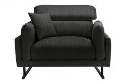 1-Seater Sofa Gigi | Dark Grey / Black Legs