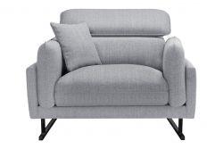 1-Seater Sofa Gigi | Light Grey / Black Legs