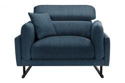 1-Seater Sofa Gigi | Petrol Blue / Black Legs