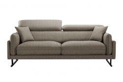 3-Sitzer-Sofa Gigi | Braun/Schwarze Füße