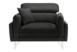 1-Seater Sofa Gigi | Anthracite / Black